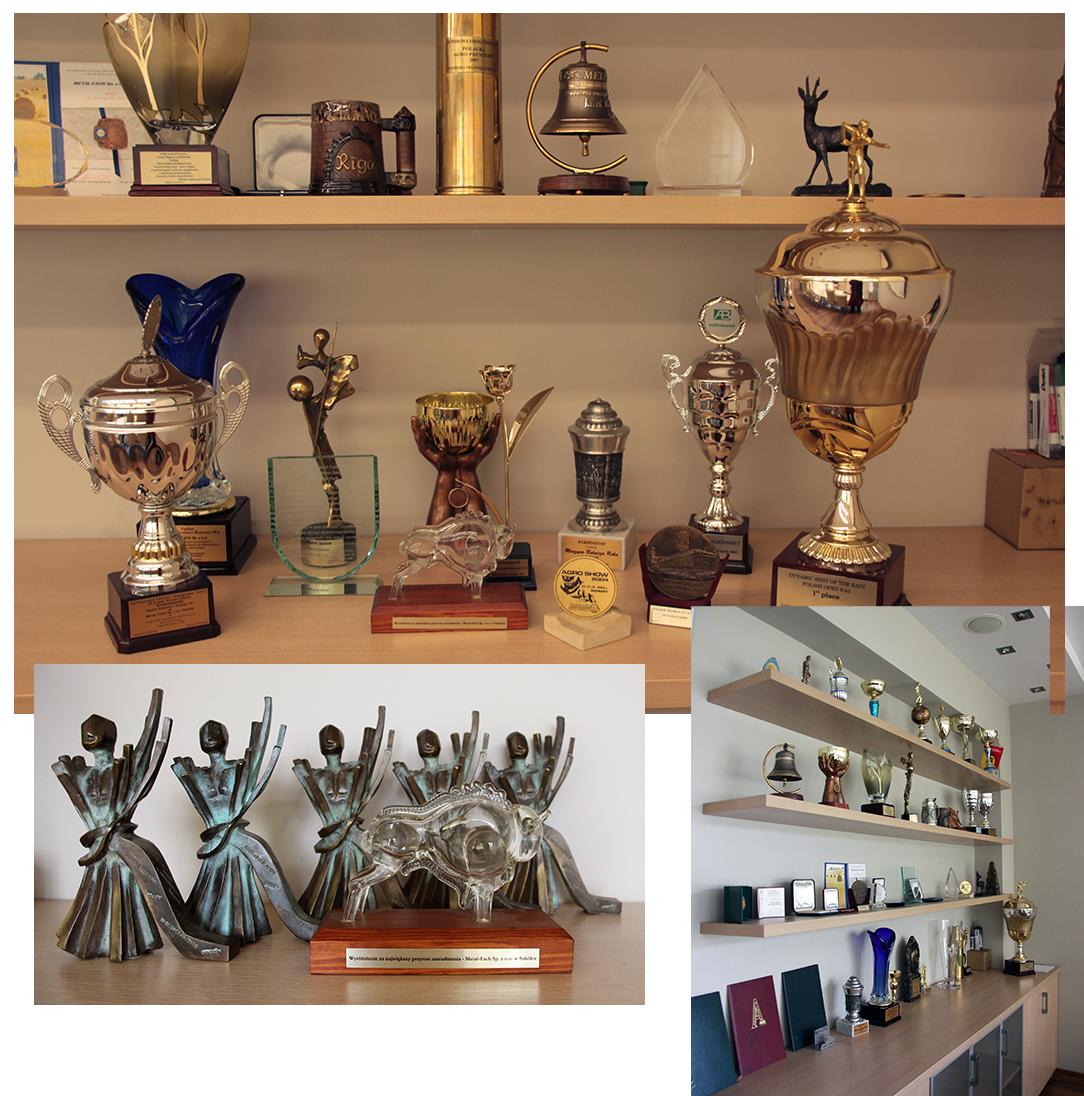 Nagrody jakie firmie udało się uzyskać na przestrzeni lat swojej działalności.