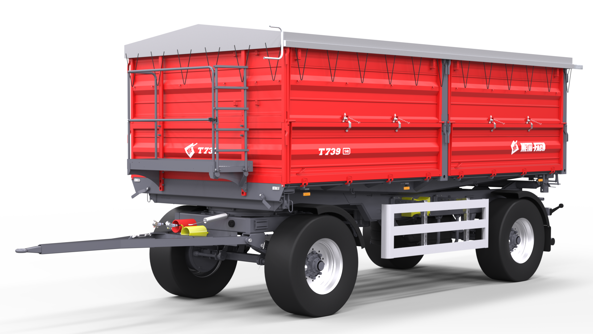 Double axle Agricultural Trailer T739