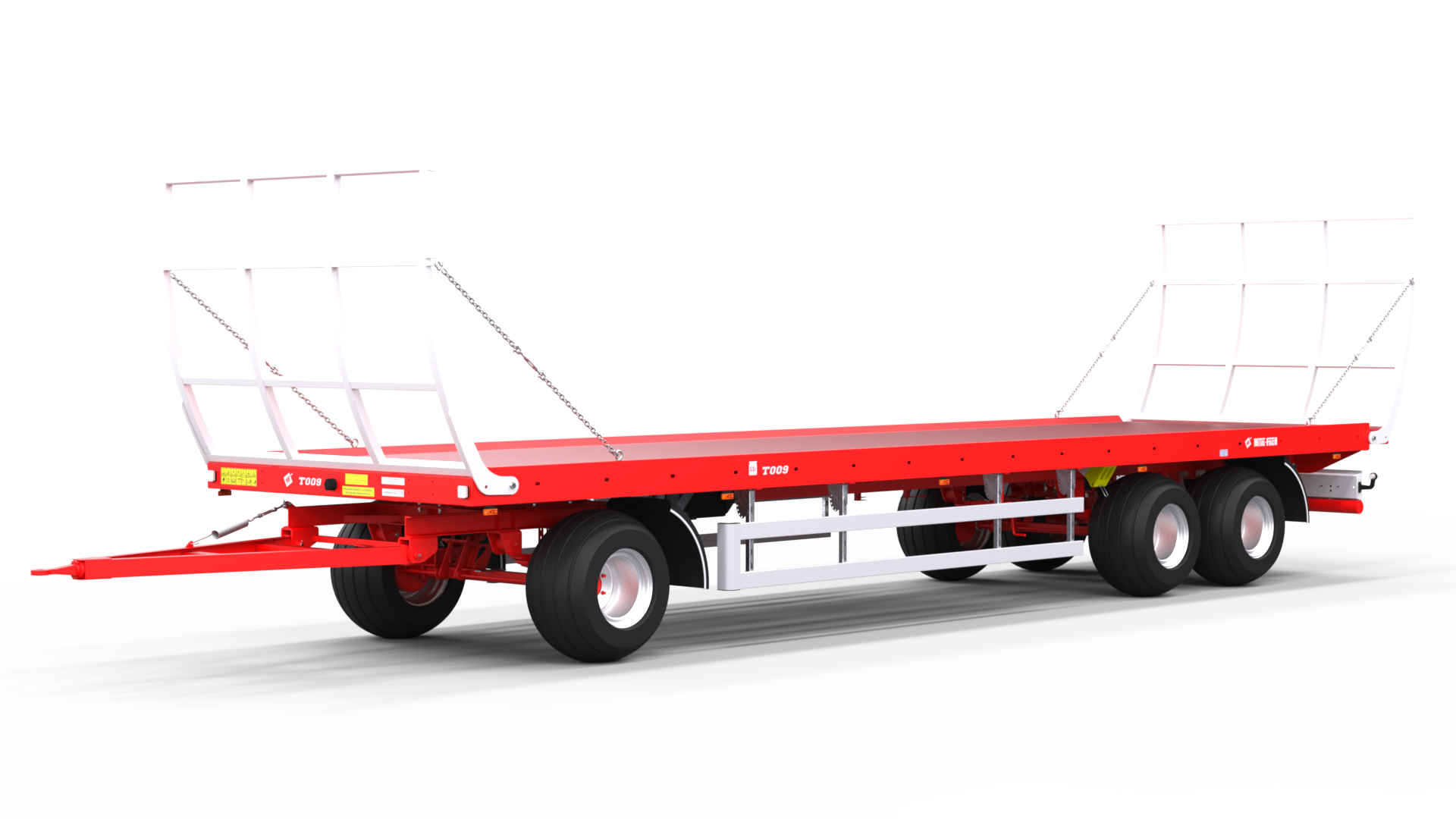Platform trailer for bales T009