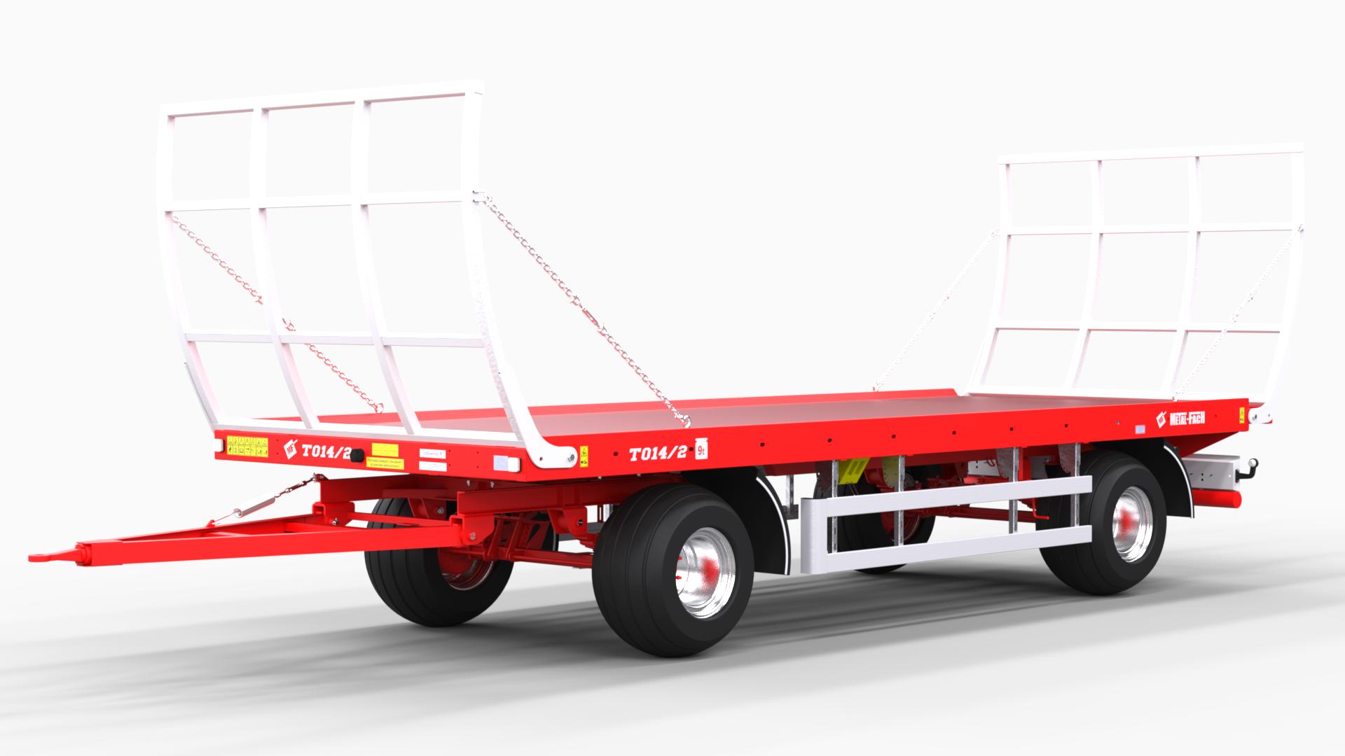 Platform trailer for bales T014