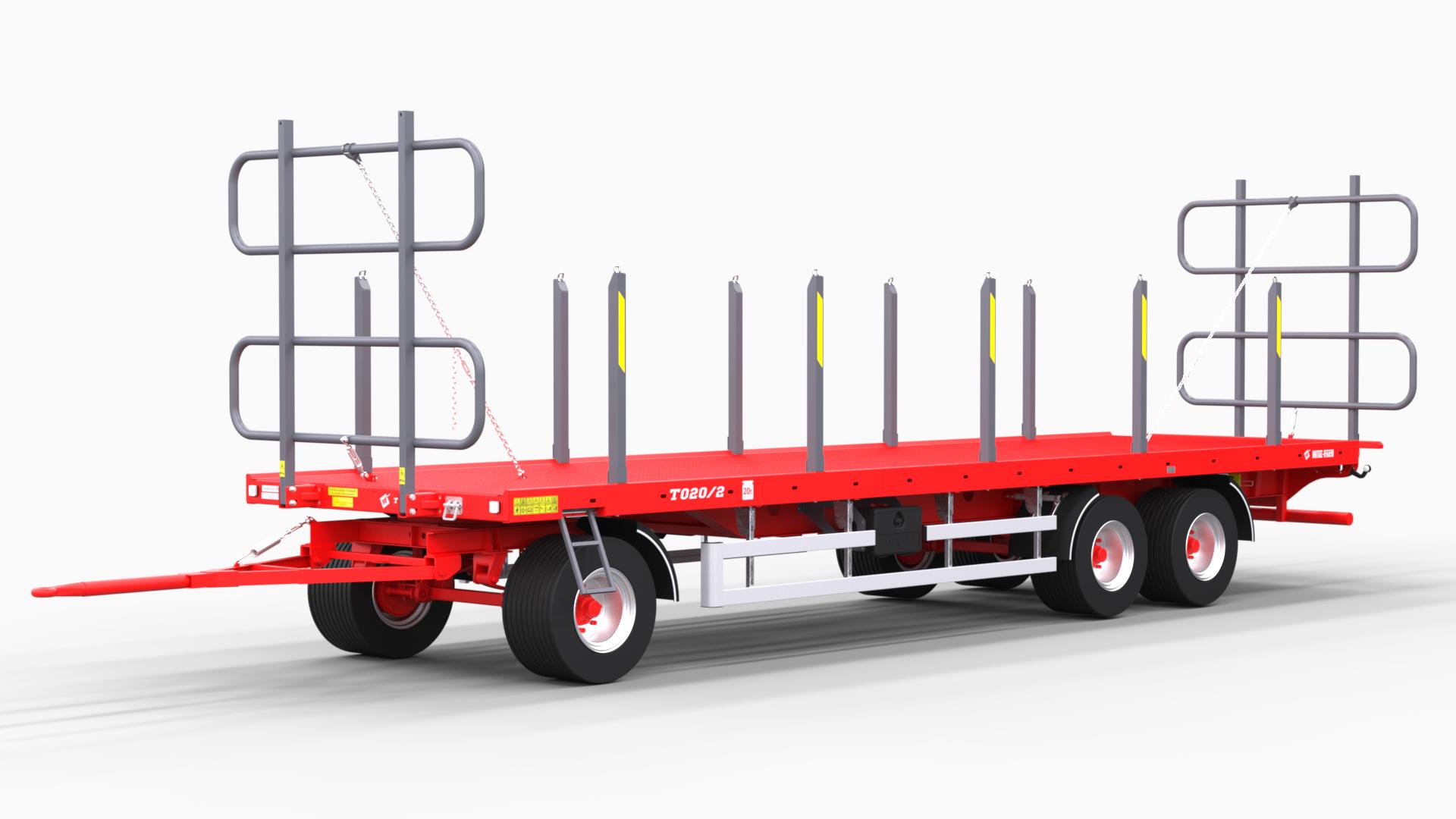 Platform trailer for bales T020 Tytan