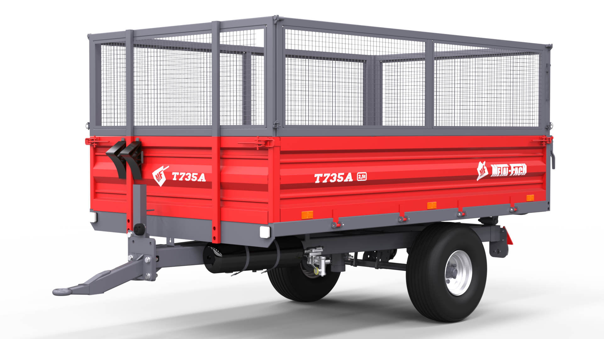 Single axle Agricultural Trailer T735A