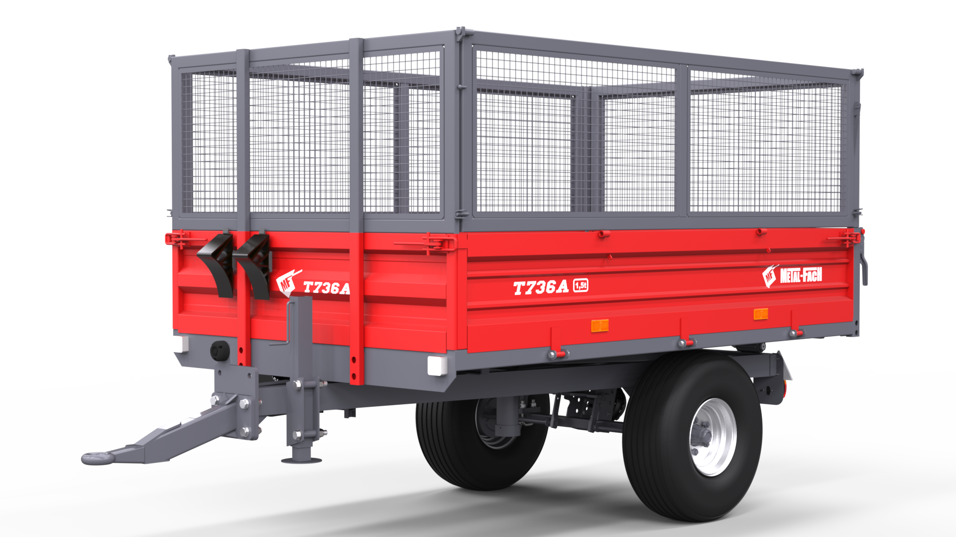 Single axle Agricultural Trailer T736