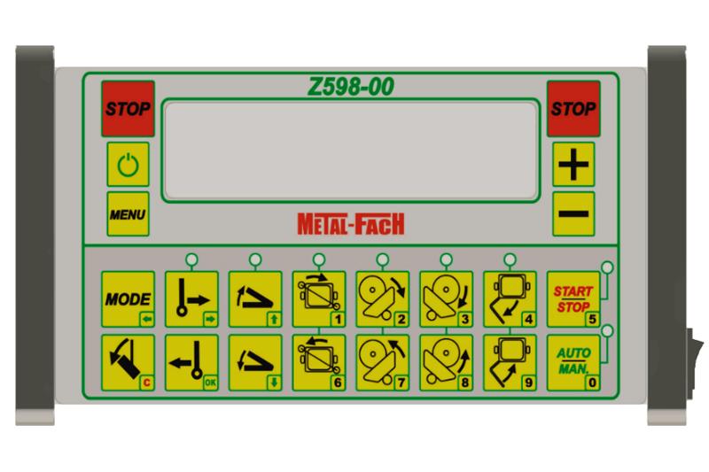 Owijarka do bel samozaładowcza Z598 Metal-Fach Panel sterowania