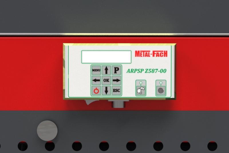 Prasa belująca stałokomorowa Z587 Panel sterowania