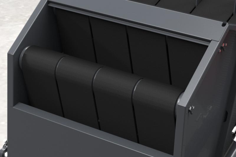 Prasa belująca zmiennokomorowa Z514 Metal-Fach Komora pasowa, pasy bezszwowe