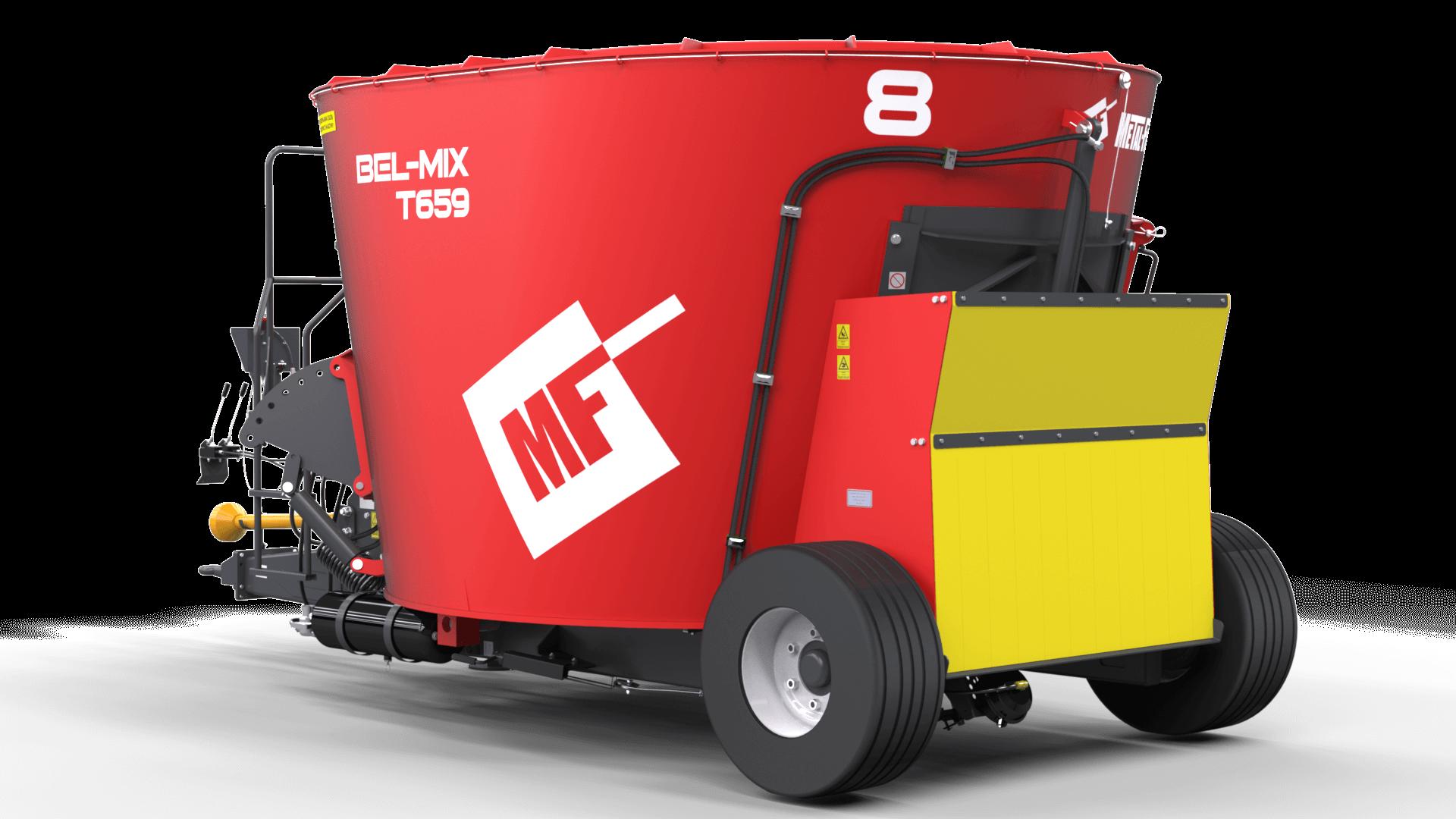 Wóz paszowy jednowirnikowy T659 BEL-MIX obniżony tył Metal-Fach
