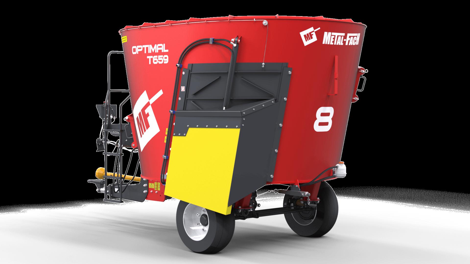 Wóz paszowy jednowirnikowy T659 OPTIMAL tył Metal-Fach