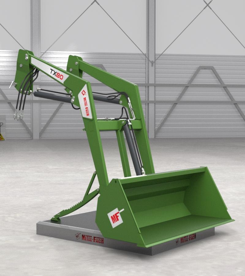 Ładowacz czołowy TX80 - zielony