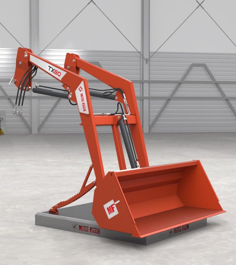 Ładowacz czołowy TX80 - pomarańczowy