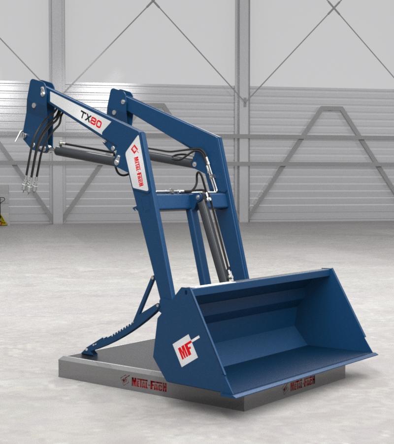 Ładowacz czołowy TX80 - niebieski